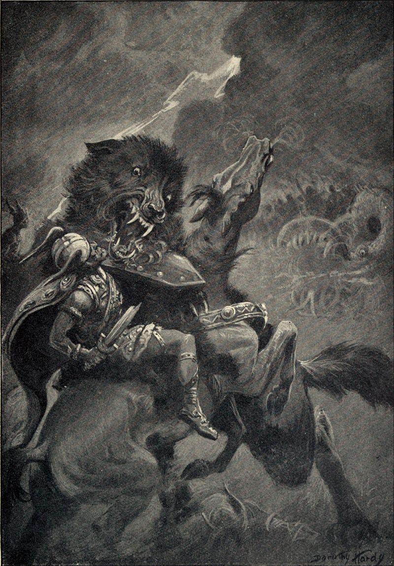 Odin-et-Fenrir